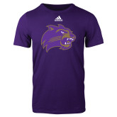 Adidas Purple Logo T Shirt-Catamount Head