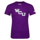 Adidas Purple Logo T Shirt-WCU