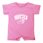 Bubble Gum Pink Infant Romper-WCU w/Head