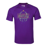 Adidas Climalite Purple Ultimate Performance Tee-Adidas Catamounts Football Logo
