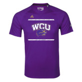 Adidas Climalite Purple Ultimate Performance Tee-Adidas WCU Logo