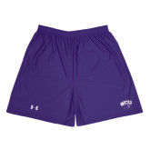 Under Armour Purple HeatGear Microshort w/Pockets-WCU w/Head