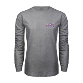 Grey Long Sleeve T Shirt-Western Carolina Catamounts