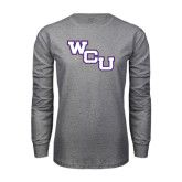 Grey Long Sleeve T Shirt-WCU