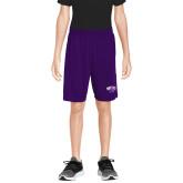 Youth Purple Competitor Shorts-WCU w/Head