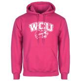 Fuchsia Fleece Hoodie-WCU w/Head