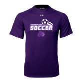 Under Armour Purple Tech Tee-Soccer Swoosh Design