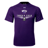 Under Armour Purple Tech Tee-Track and Field Shoe Design