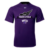 Under Armour Purple Tech Tee-Track and Field Side Shoe Design