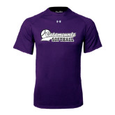Under Armour Purple Tech Tee-Softball Script Design