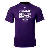 Under Armour Purple Tech Tee-Game Set Match Tennis Design