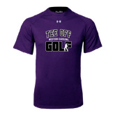 Under Armour Purple Tech Tee-Tee Off Golf Design