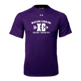 Under Armour Purple Tech Tee-Cross Country Design