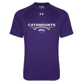 Under Armour Purple Tech Tee-Football Abstract Ball