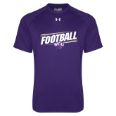Under Armour Purple Tech Tee-Football Fancy Lines