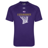 Under Armour Purple Tech Tee-Basketball Net Design