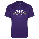 Under Armour Purple Tech Tee-Basketball Half Ball
