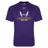 Under Armour Purple Tech Tee-Wings Track and Field
