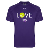 Under Armour Purple Tech Tee-Love Tennis