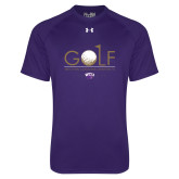 Under Armour Purple Tech Tee-Golf Flag Design