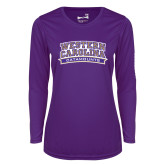 Ladies Syntrel Performance Purple Longsleeve Shirt-Western Carolina Catamounts