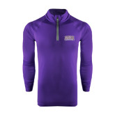 Under Armour Purple Tech 1/4 Zip Performance Shirt-Western Carolina Catamounts