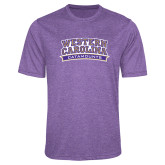 Performance Purple Heather Contender Tee-Western Carolina Catamounts