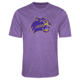 Performance Purple Heather Contender Tee-Catamount Head