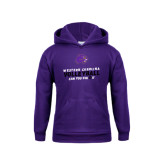Youth Purple Fleece Hoodie-Can You Dig It - Volleyball Design