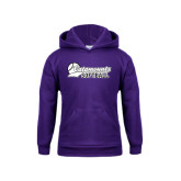 Youth Purple Fleece Hoodie-Softball Script Design