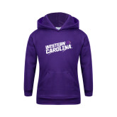 Youth Purple Fleece Hoodie-Western Carolina Slashes