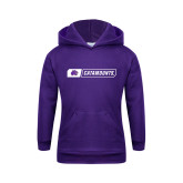 Youth Purple Fleece Hoodie-Catamounts in Box