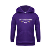 Youth Purple Fleece Hoodie-Football Abstract Ball