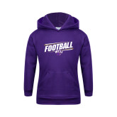 Youth Purple Fleece Hoodie-Football Fancy Lines