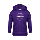 Youth Purple Fleece Hoodie-Baseball Seams Design