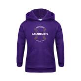 Youth Purple Fleece Hoodie-Baseball Seams Design