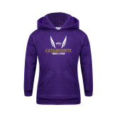 Youth Purple Fleece Hoodie-Wings Track and Field