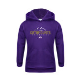 Youth Purple Fleece Hoodie-Abstract Volleyball