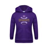 Youth Purple Fleece Hoodie-Softball Seams Design