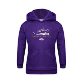 Youth Purple Fleece Hoodie-Cross Country Shoe Design