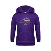 Youth Purple Fleece Hood-Cross Country Shoe Design