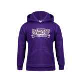 Youth Purple Fleece Hoodie-Western Carolina Catamounts