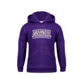 Youth Purple Fleece Hoodie-Western Carolina Catamounts