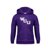 Youth Purple Fleece Hoodie-WCU