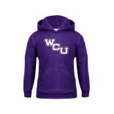 Youth Purple Fleece Hood-WCU