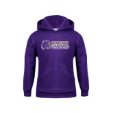 Youth Purple Fleece Hoodie-Track and Field