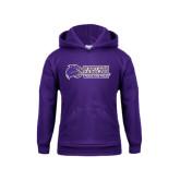 Youth Purple Fleece Hood-Track and Field