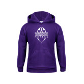 Youth Purple Fleece Hoodie-Tall Football Design