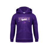 Youth Purple Fleece Hoodie-Baseball Crossed Bats Design