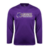 Performance Purple Longsleeve Shirt-Track and Field